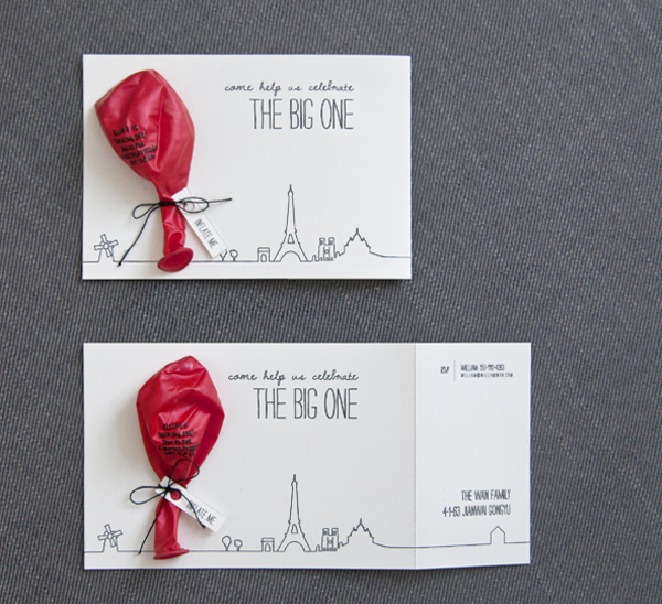 A Red Balloon Birthday Invitation Crafthubs – Clever Party Invitations